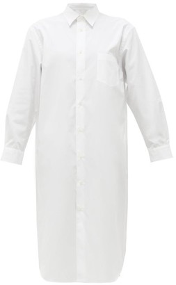 Junya Watanabe Cotton-poplin Shirt Dress - Womens - White