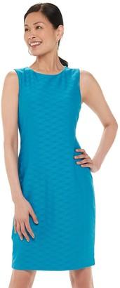 Chaps Women's Sleeveless Textured Sheath Dress