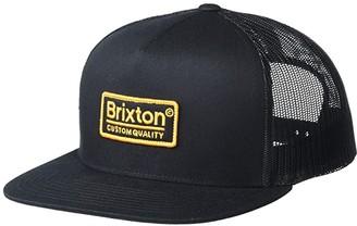 Brixton Palmer Mesh Cap (Black/Gold) Caps