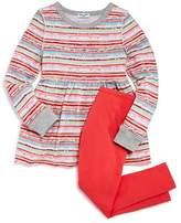 Splendid Girls' Mixed Stripes Shirt Dress & Solid Leggings Set - Little Kid