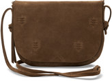 Toms Toffee Suede Embroidered Venice Crossbody Bag