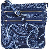Vera Bradley Iconic Signature Triple ZipHipster Bag