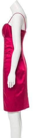 David Meister Sleeveless Ruched Dress