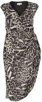 **Billie & Blossom Curve Animal Ruched Side Dress