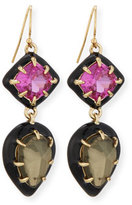 Alexis Bittar Pyrite Doublet & Ruby Corundum Earrings