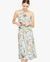 Ann Taylor Tropical One Shoulder Dress