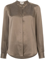 L'Agence blouse with mandarin collar
