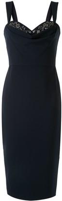 Marchesa Notte Sequin-Embellished Cocktail Dress