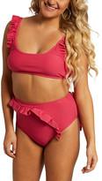 Juicy Couture Women's Bikini Bottoms RASBERRY - Raspberry Flutter-Sleeve Bikini Top & Bottoms - Women