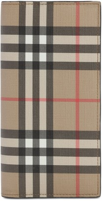 Burberry Coated Check Vertical Wallet