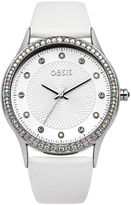 Oasis White Strap Watch