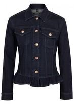 J Brand Flourish Ruffled-hem Denim Jacket