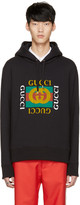 Gucci Black Aged Logo Hoodie