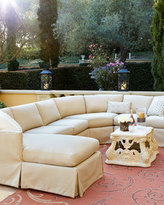 Horchow Outdoor Upholstered Sectional