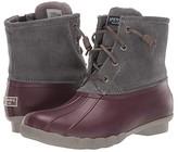 Sperry Saltwater Corduroy (Grey/Wine) Women's Rain Boots