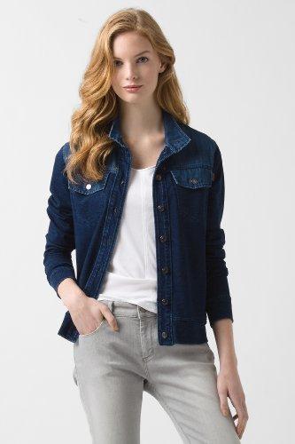 Lacoste Denim And Sweatshirt Indigo Jacket