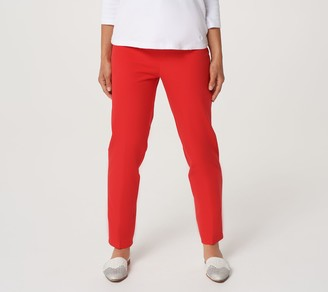 Isaac Mizrahi Live! Regular 24/7 Stretch Classic Ankle Pants