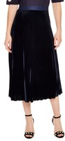 Sandro Women's Pleat Velvet Midi Skirt