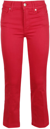 7 For All Mankind Cropped Boot Unrolled Slim Illusion Cherry