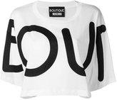 Moschino cropped printed T-shirt - women - Cotton - 36
