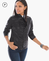 Chico's Faux-Leather Ruffle Jacket