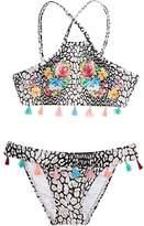 Pilyq Pily Q Cheetah-Print Tassel-Embellished Two-Piece Swimsuit