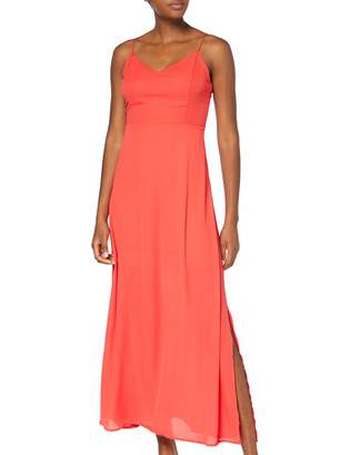 Only Women's Onlcana Strap Open Back Long Dress WVN Orange Bittersweet 10 (Herstellergroe: 36)