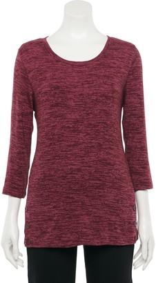 Croft & Barrow Women's Button-Hem Cozy Tunic