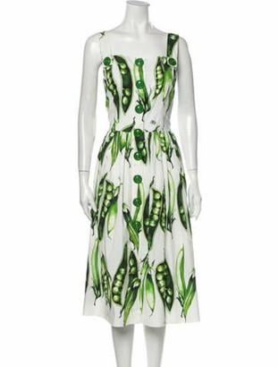 Dolce & Gabbana 2018 Midi Length Dress Green