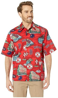 Reyn Spooner Boston Red Sox Hawaiian Shirt (Scenic) Men's Clothing