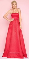 Mac Duggal Box Pleated Strapless Sweetheart Ball Gown