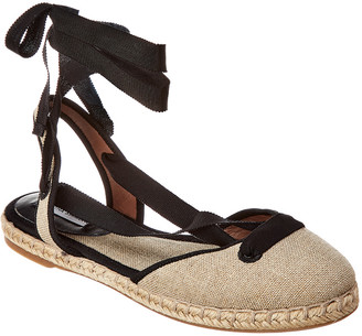 Tabitha Simmons Kaya Natural Linen Ankle-Wrap Espadrille