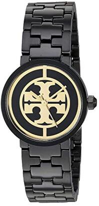 Tory Burch Reva Bracelet Watch - 28 mm (Black - TBW4038) Watches