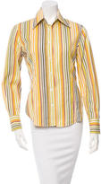 Etro Pin Striped Button-Up Top