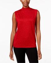 Alfred Dunner 'Tis The Season Mock-Neck Sleeveless Sweater