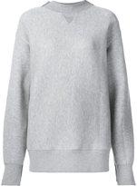Sacai knitted panel sweatshirt