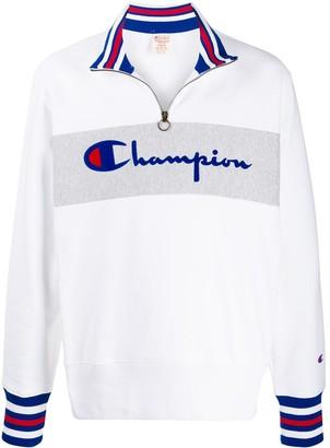 Champion zipped logo sweater