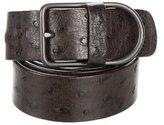 Bottega Veneta Ostrich Gunmetal Belt