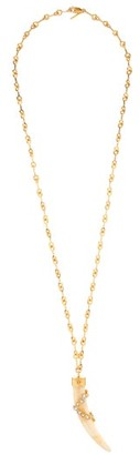 Chloé Crystal-embellished Tooth Necklace - White
