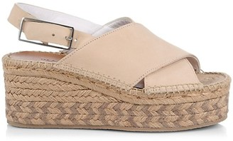 Rag & Bone Tari Suede Platform Espadrille Wedge Slingback Sandals