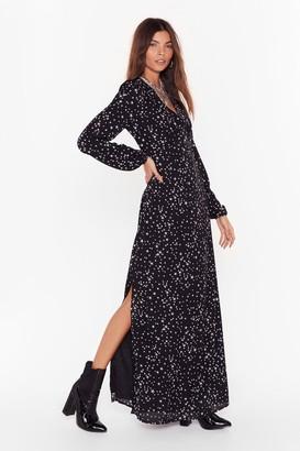 Nasty Gal Womens Walk of Fame Star Maxi Dress - black - 6