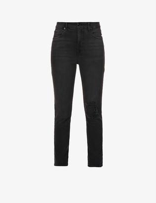 Good American Good Classic skinny high-rise stretch-denim jeans