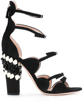 Giambattista Valli embellished sandals - women - Suede - 35