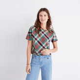 Madewell Plaid Tie-Back Top