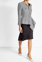 Roland Mouret Cotton and Wool Blend Tweed Jacket