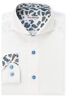 Isaac Mizrahi Boys 4-7) Paisley Lining Long Sleeve Dress Shirt