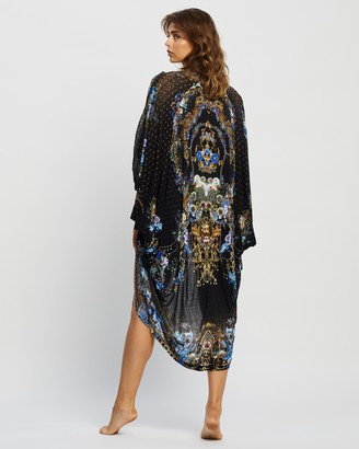 Camilla Women's Black Kaftans & Overswim - Jersey Back Panel With Silk Front Long Line Gathered Layer - Size One size at The Iconic
