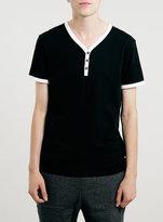 Topman Black Baseball T-Shirt