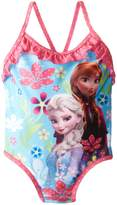Disney Little Girls' Toddler Frozen Floral One Piece Swimsuit