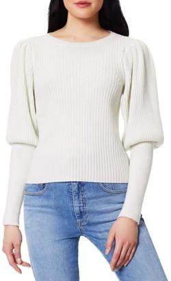 Ramy Brook Angie Wool & Cashmere Blouson-Sleeve Knit Sweater